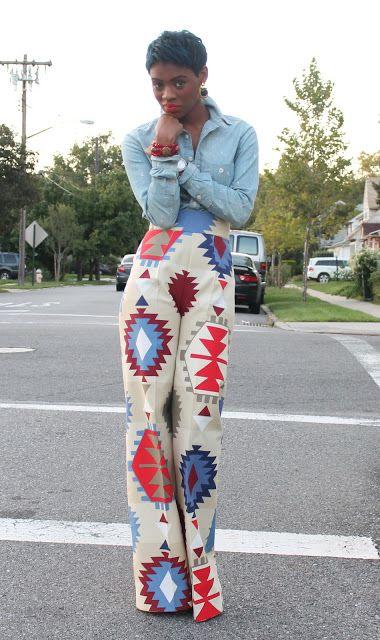 Navajo Print Pants