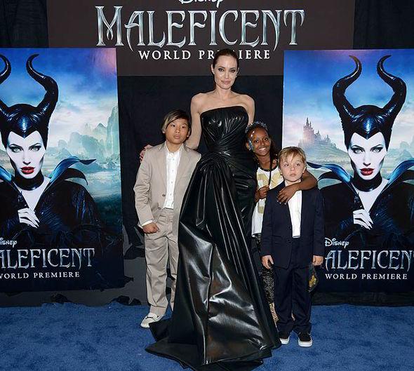 Angelina Jolie and her kids Maddox, 12, Zahara, 9, Pax, 10, Knox, 5, and Shiloh, 8,