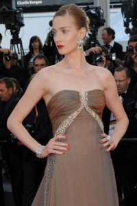 Eva Riccobono in Roberto Cavalli at the Cannes Film Festival 2011