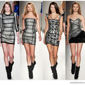 balmain-fall-2009-silver-geometric-dresses1