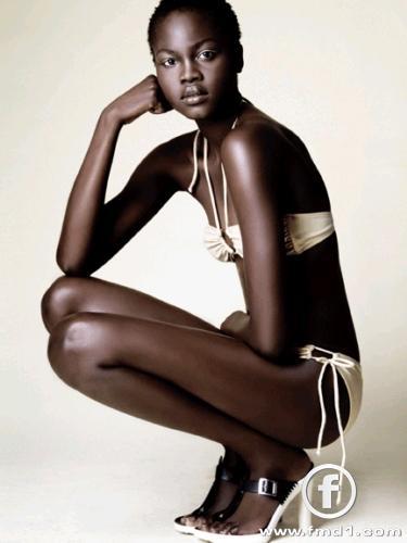 atong arjok Black Models