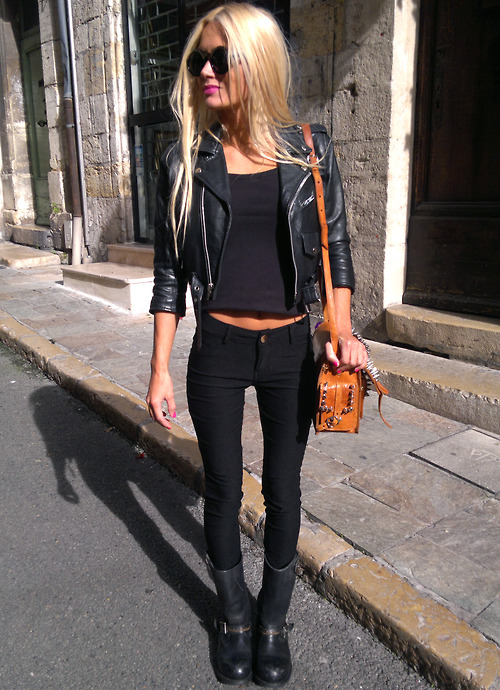 Black Leather Jacket Outfits Pinterest