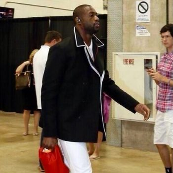 0-Dwyane-Wades-NBA-Finals-Game-4-Gucci-Black-cotton-linen-Canvas-Peacoat-Roos-Studded-Leather-Loafers