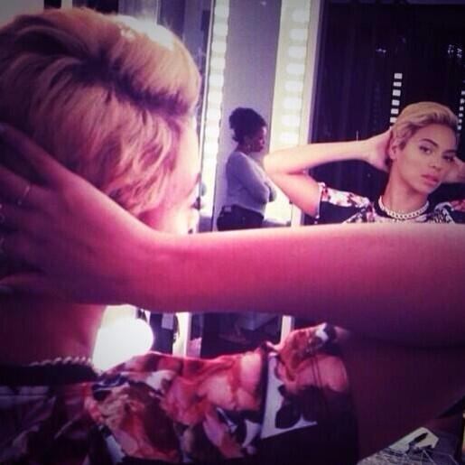 Beyonce debuts new haircut