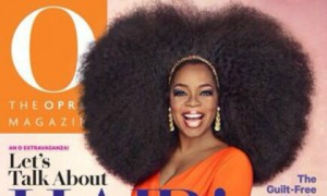 Oprah sports huge wig on the cover of O magazine
