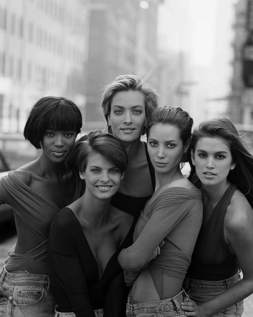 Peter-Lindbergh-Cindy-Crawford-Christy-Turlington-Tatjana-Patitz-Linda-Evangelista-Naomi-Campel-1990