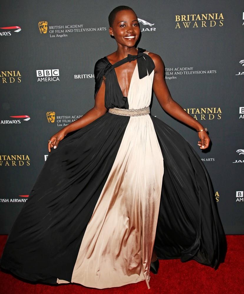 lupita nyong o 2013 bafta la jaguar britannia awards 05 Lupita  Nyongo  fashion style