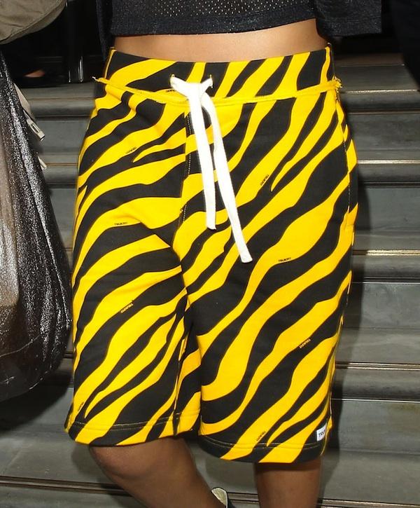 Rihanna-Joyrich-New-York-Athletic-Mesh-Crop-top-Trukfit-Tiger-Print-Shorts-1