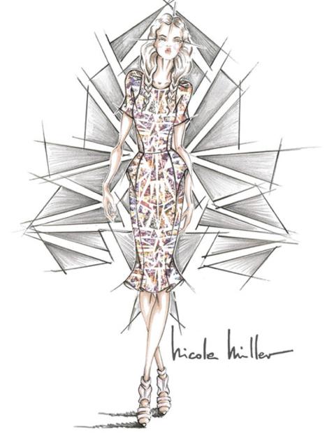 Nicole Miller -sketch -spring-2014