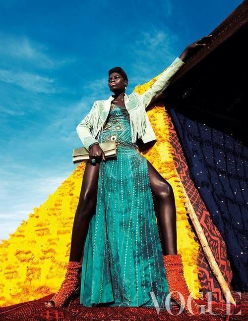 Senegal's Supermodel Kinee Diouf Rocks Vogue Netherlands Jul 2013