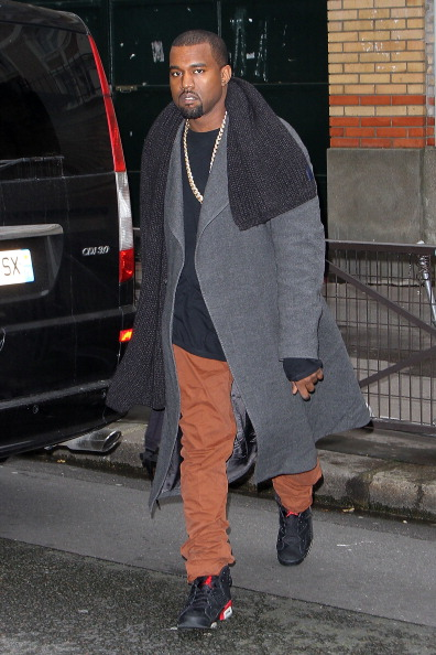 Kanye West Sighting In Paris - January 11, 2013
