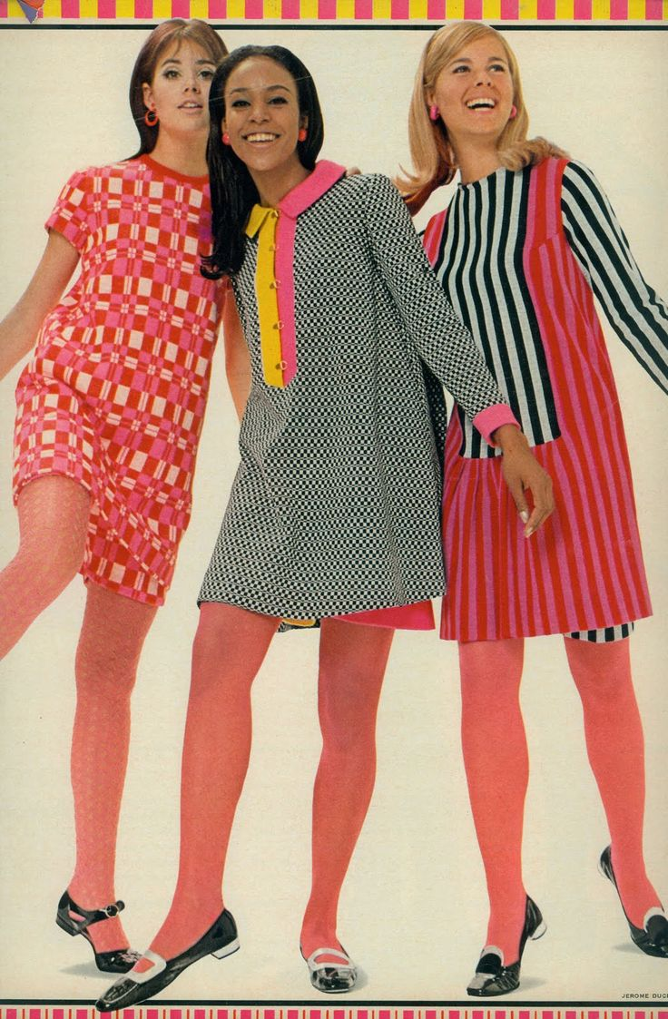 "Colleen Corby and others in ""razzle dazzle knits"", Seventeen, 1967"