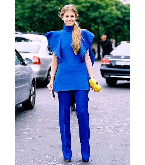 bbad96a3cd4763ba32cf3d1b07d8712f  Fashion Week Blue Street style