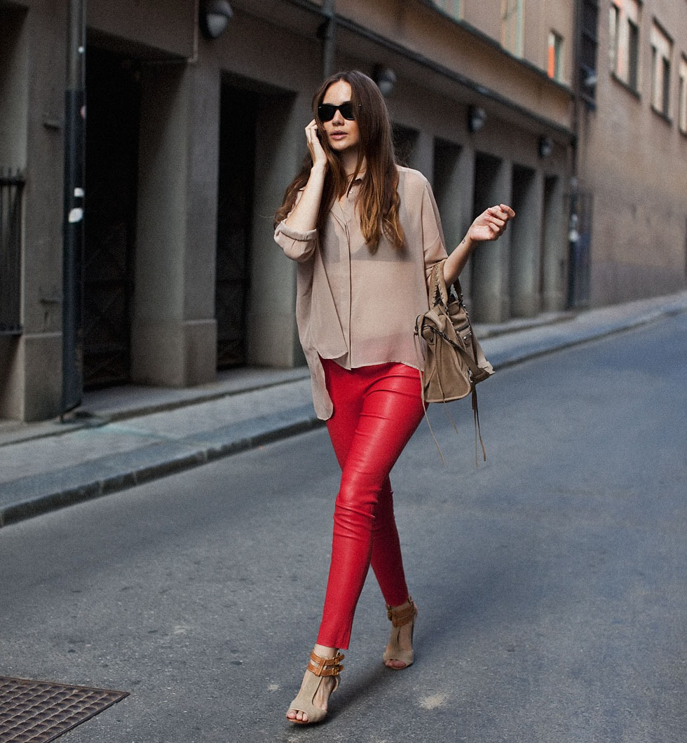 blouse-nude-sheer-red-leather-pants-carolines-mode