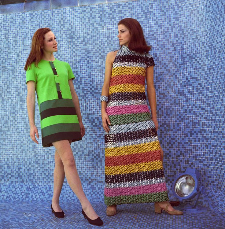 Models wearing dresses by Cesare Guidi, 1967