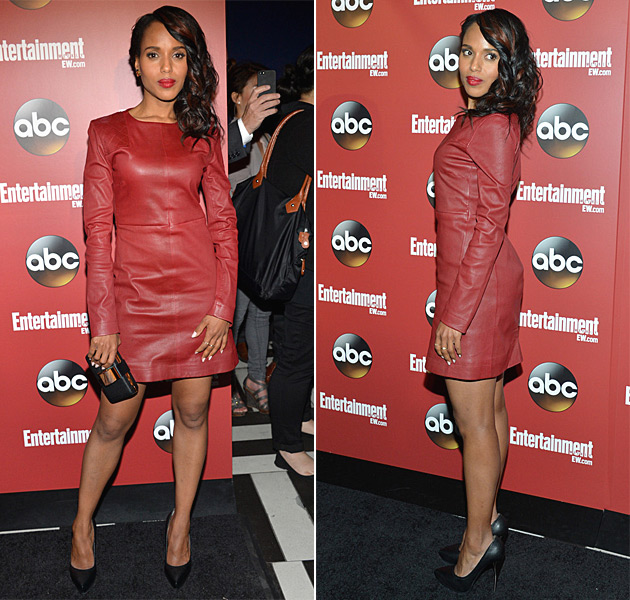 kerry-washington-marc-by-marc-jacobs-red-leather-dress-abc-upfronts