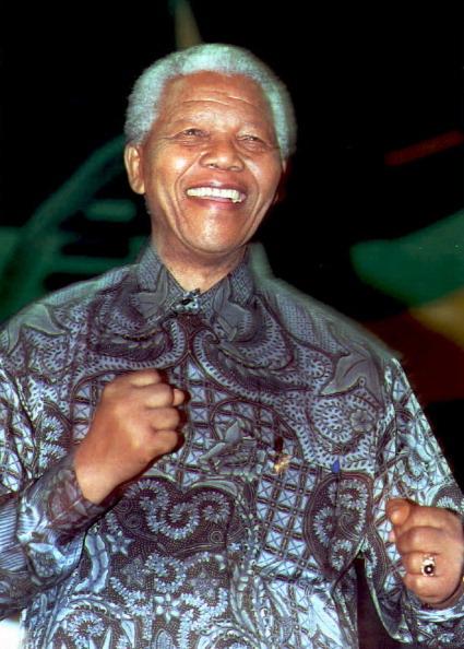 South African President Nelson Mandela d