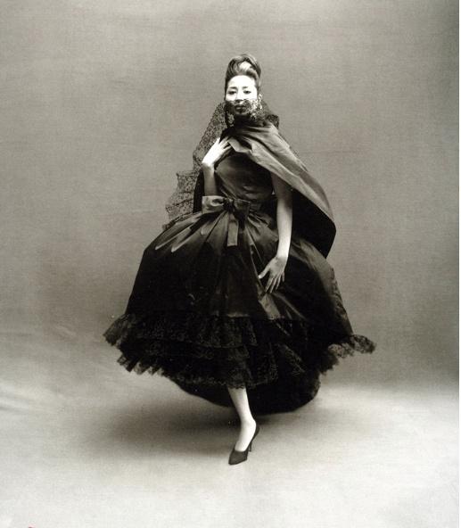 Richard Avedon, China Machado in Dior, 1959