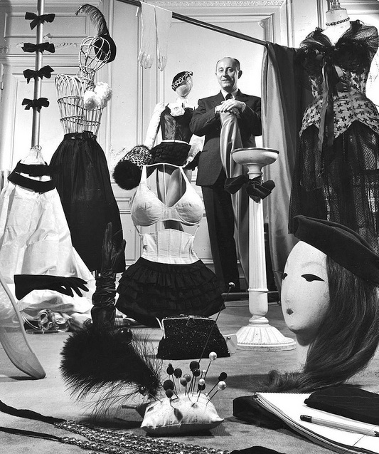 Christian Dior in his Paris salon, 1948.