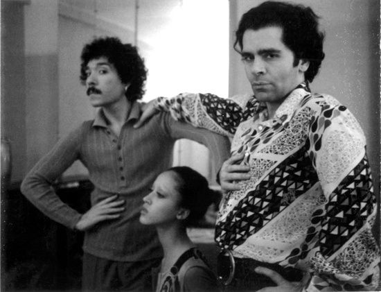 Antonio Lopez, Pat Cleveland and Karl Lagerfeld in Paris, 1970.