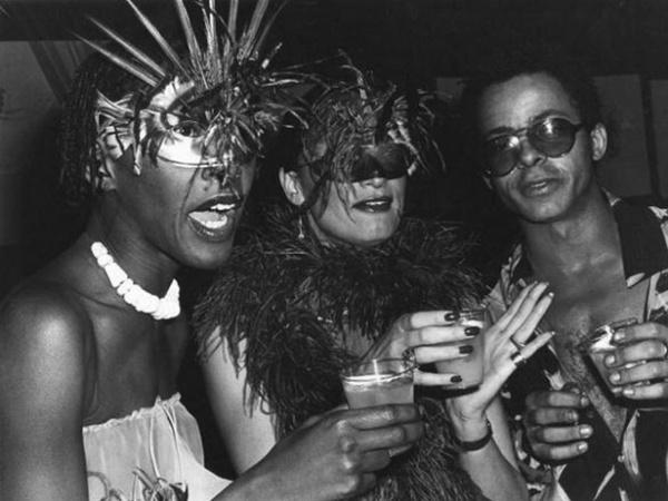 Bethann Hardison, Daniela Morera, and Stephen Burrows at Le Grand Divertissement à Versailles - 1973. Photo by Rose Hartman.