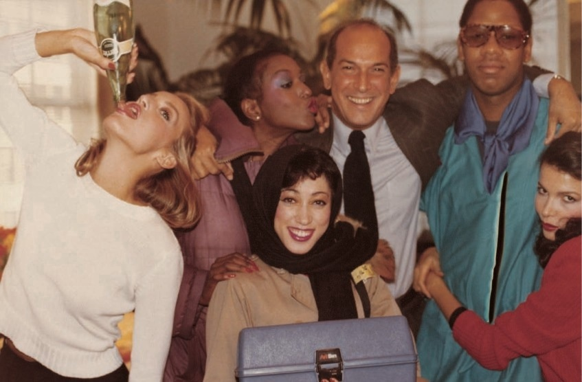 Oscar de la Renta, Billie Blair, Jerry Hall, Pat Cleveland, Andre Leon Talley, Dalma in the 1970's.