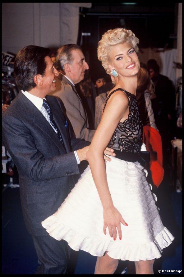 Linda Evangelista and Valentino Garavani 1991