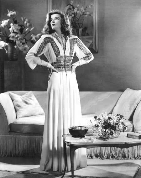 Katharine Hepburn in Adrian Dress