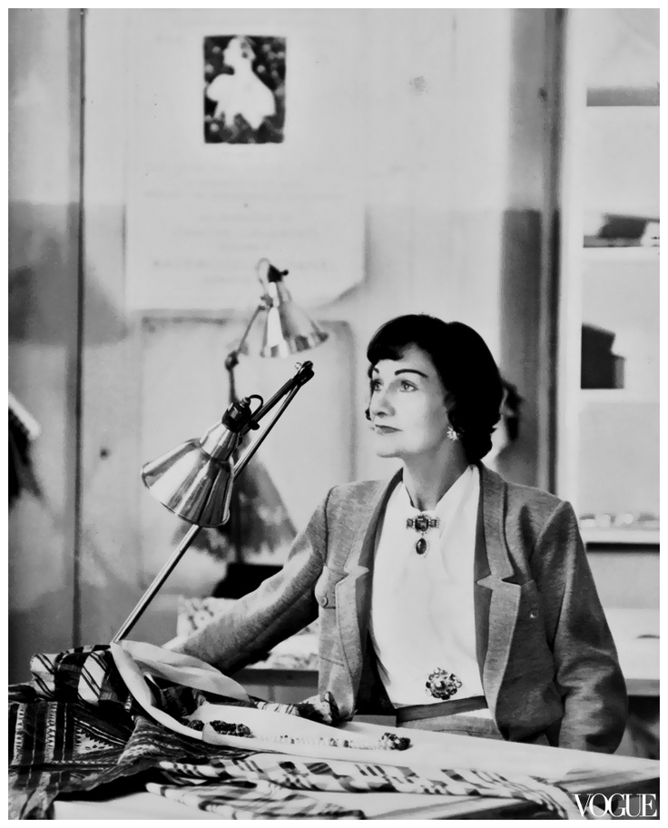 Coco Chanel Photographed for Vogue in 1954 by Henry Clarke