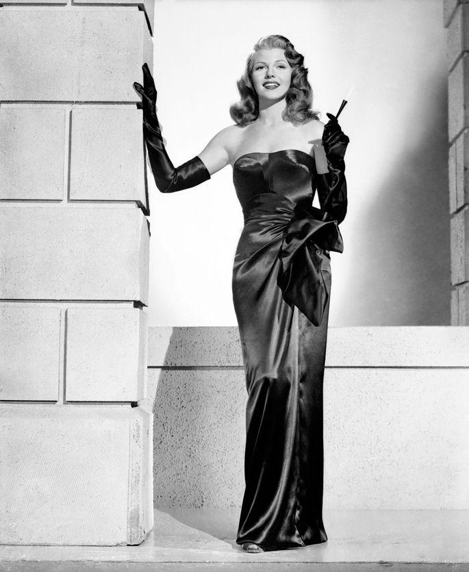 """Rita Hayworth in """"Gilda"""". Gown by Adrian"""