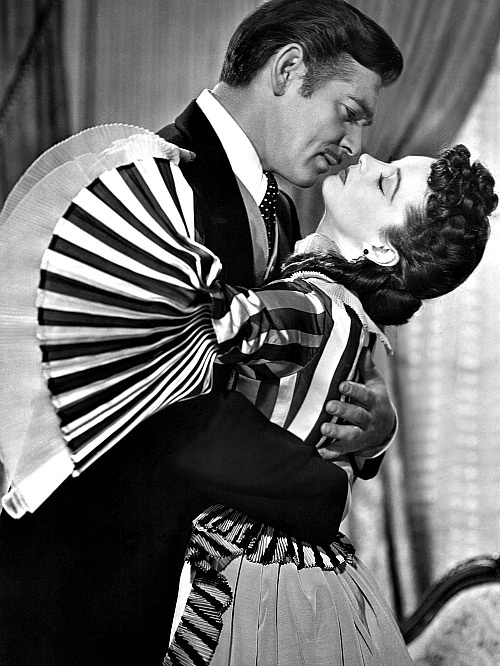Clark Gable & Vivien Leigh, Gone With the Wind, 1939 (costumes by Walter Plunkett)