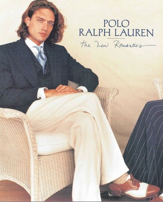 Ralph Lauren ad from 1995, the first year Myers was in charge of tie design.