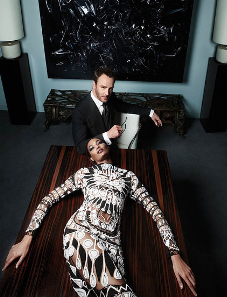 Tom Ford and Joan Smalls shot by Sølve Sundsbø for WSJ Magazine September 2013 _
