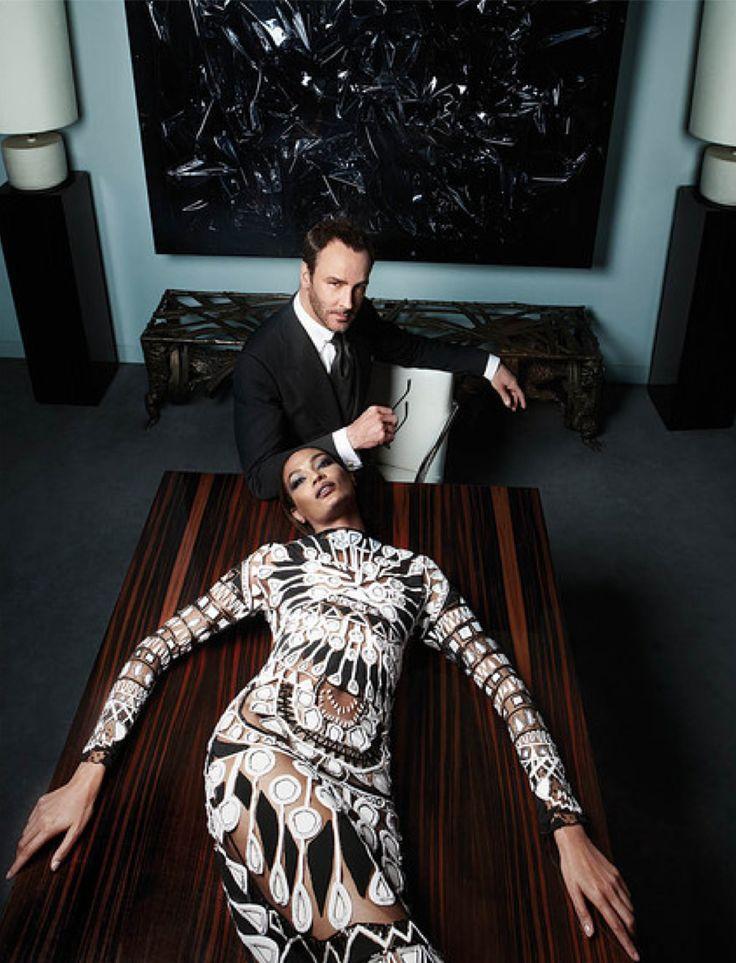Tom Ford and Joan Smalls shot by Sølve Sundsbø for WSJ Magazine September 2013 _