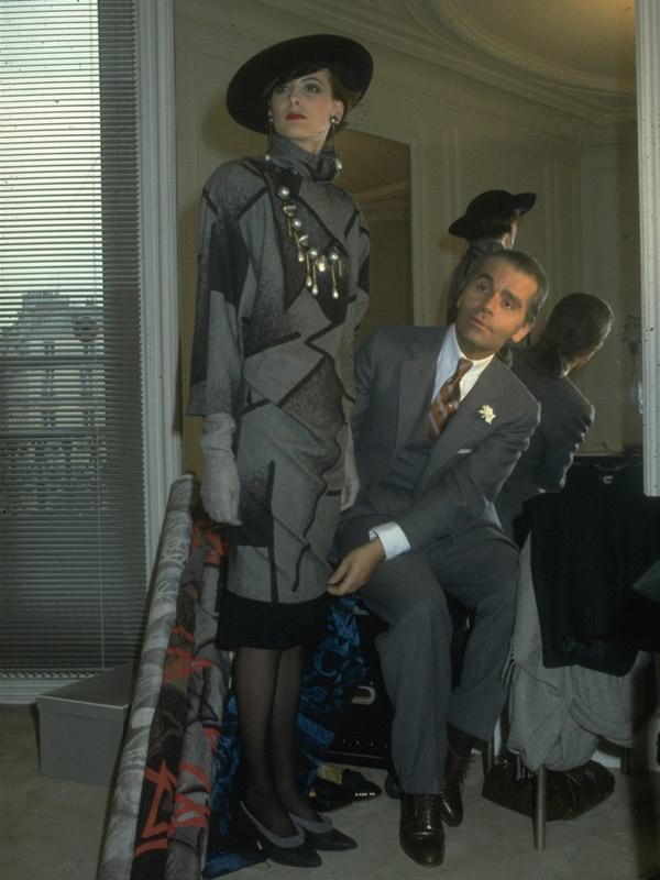 1983 - Karl Lagerfeld & Ines de la Fressange at Chloe by Pierre Vauthiey