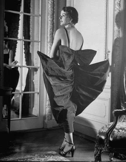 1949 black vintage dress - costume designer Gilbert Adrian