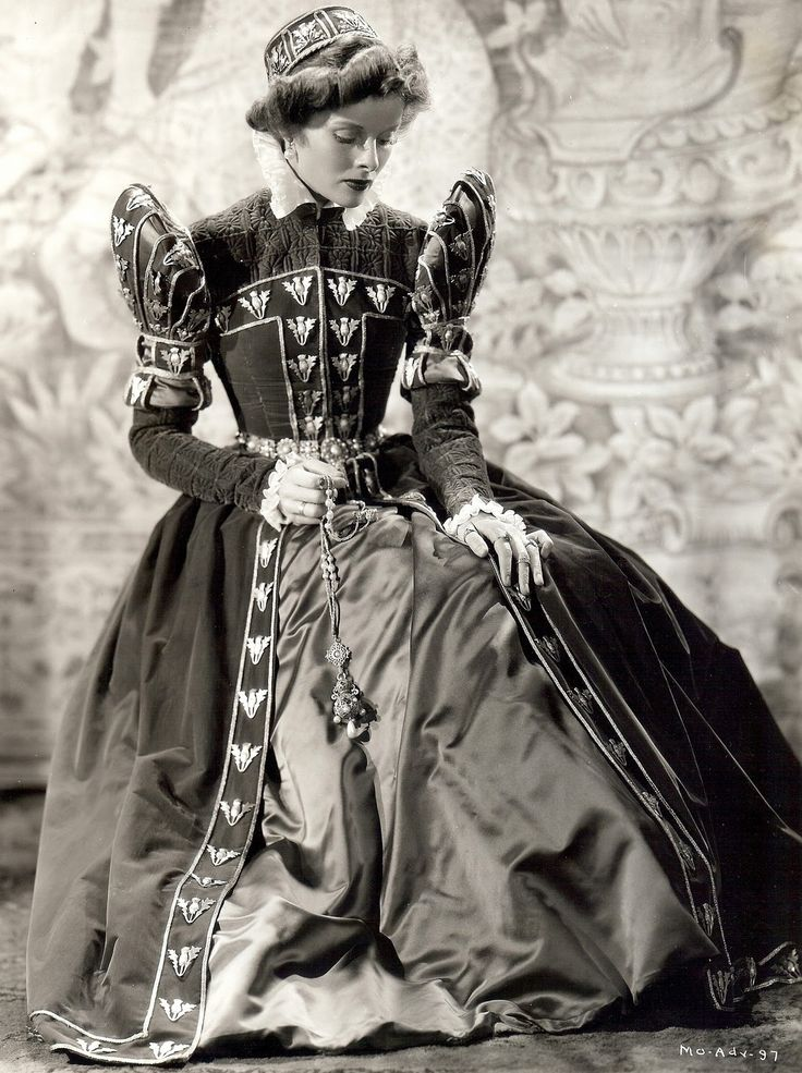 Walter Plunkett Costumes Katharine Hepburn: MARY OF SCOTLAND (1936) and THE PHILADELPHIA STORY ..