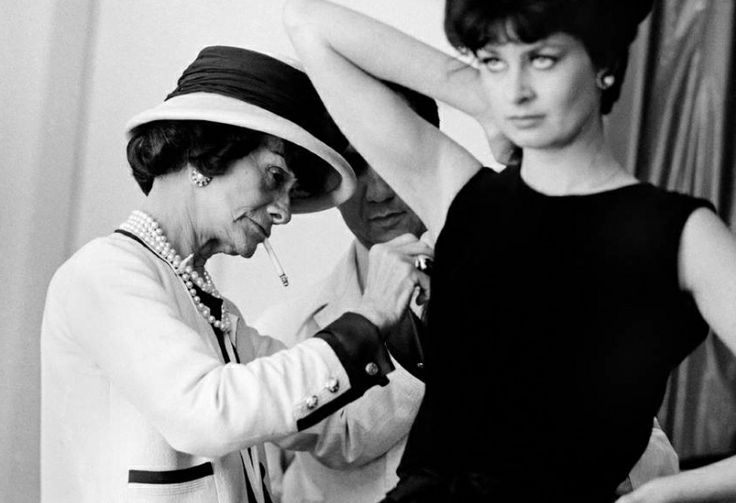 Coco Chanel photographed by Douglas Kirkland, 1962.