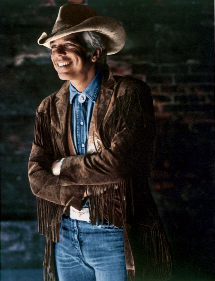 1978: Ralph Lauren's first Western-inspired collection debuts. Mr. Lauren appears in the first ad campaign