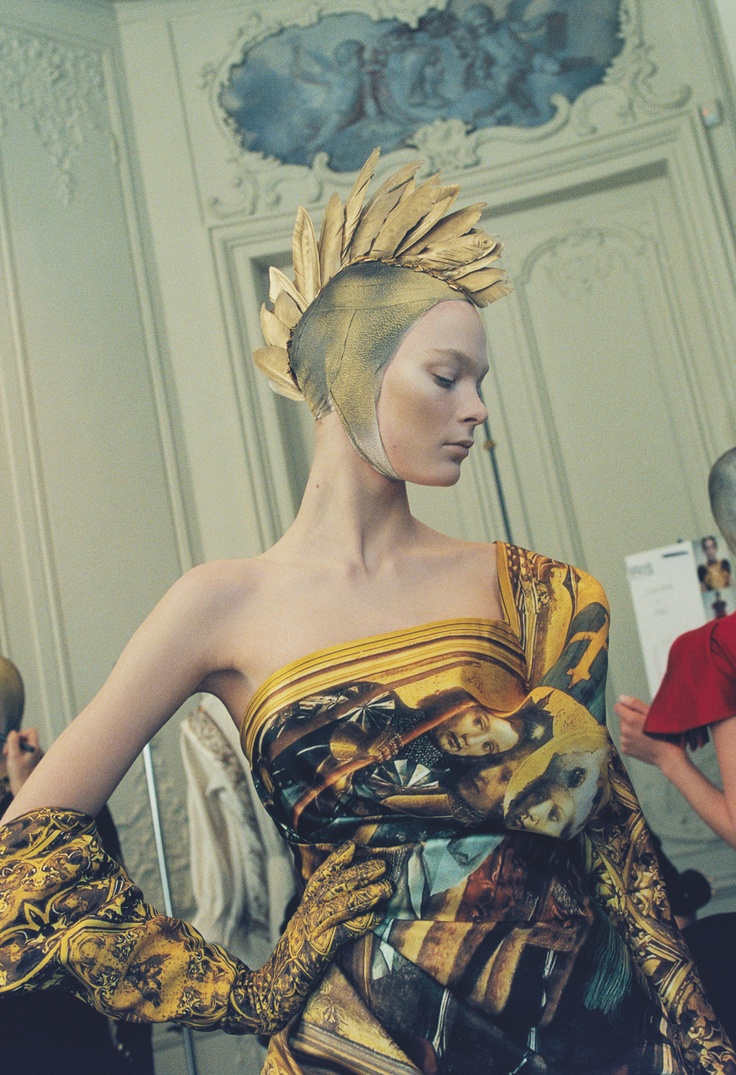 'Love Looks Not With The Eyes' Irina Kulikova at Alexander McQueen F/W 2010/11 Backstage