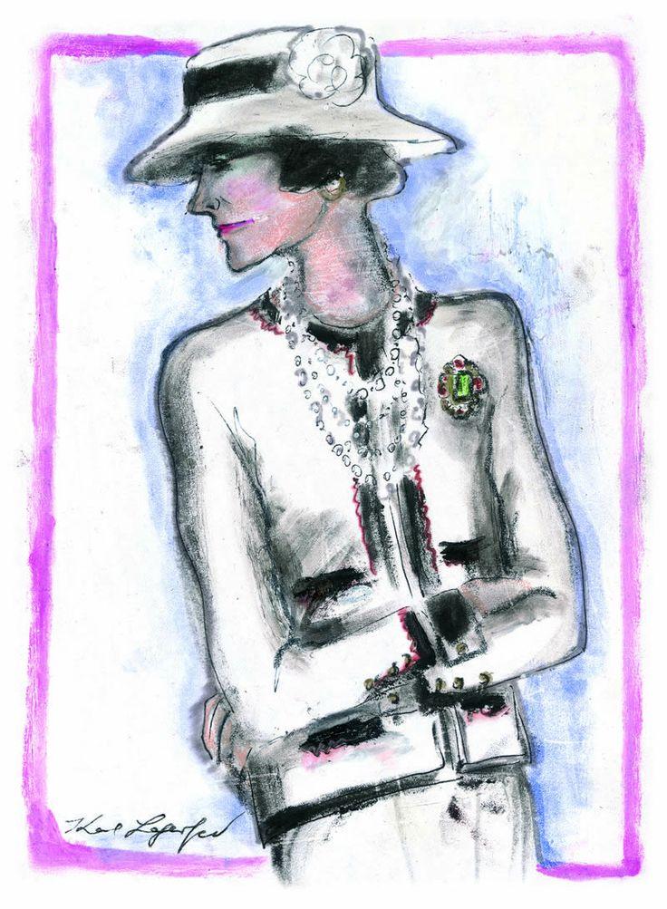 Gabrielle Chanel vista da Karl Lagerfeld.