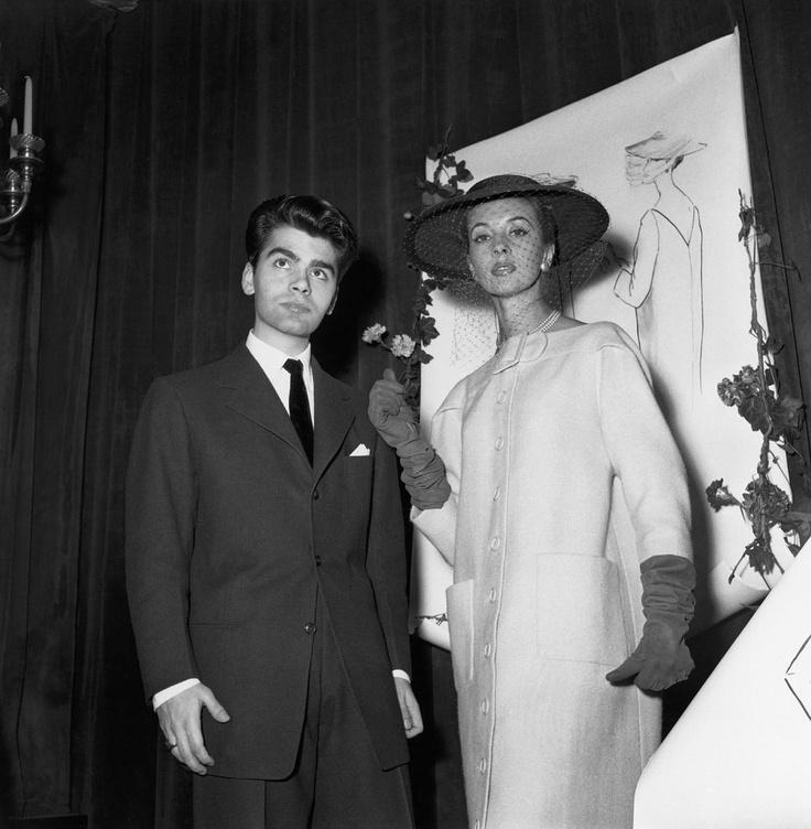 1954 - Karl Lagerfeld winning the International Wool Contest for coat