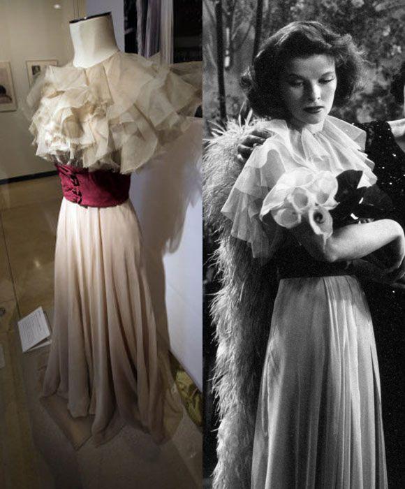 """Walter Plunkett Costumes ."""" Tweedland"""" The Gentlemen's club: Katharine Hepburn:"""