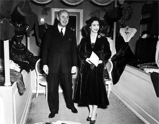 Christian Dior and Princess Margaret November 1951 Paris ©