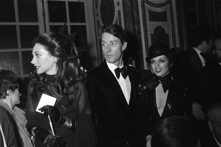 Marisa Berenson, Halston and Liza Minnelli at the festivities. Famous Runway Showdown at  'Versailles '73'