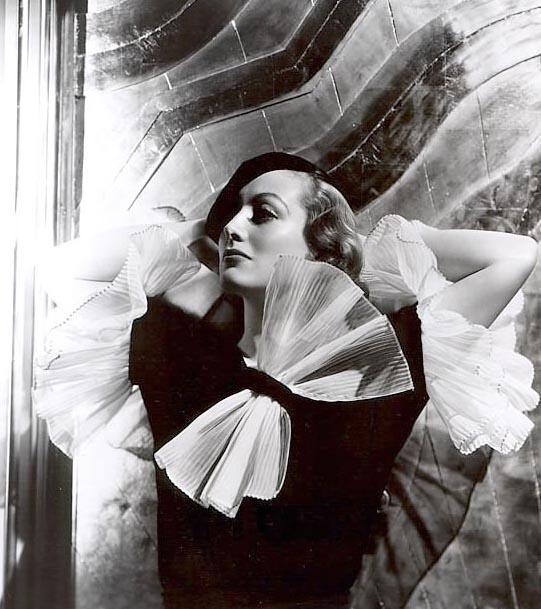 Joan Crawford dressed in Adrian