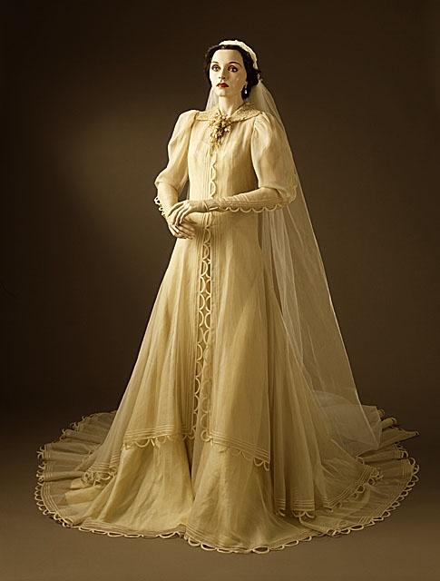 Gilbert Adrian Woman's Wedding Dress and Veil, 1937