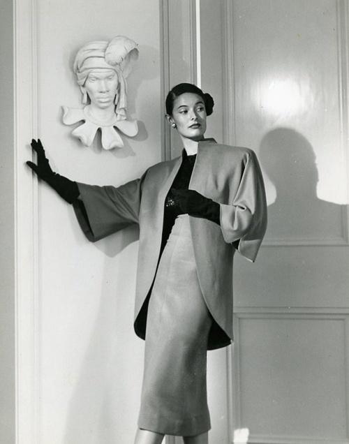 Adrian suit, 1940s.