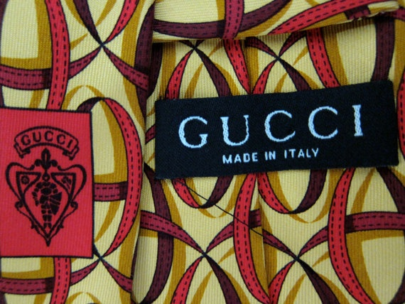 Vintage Gucci Italian Silk Tie - Ribbon Swirls - Tom Ford Era