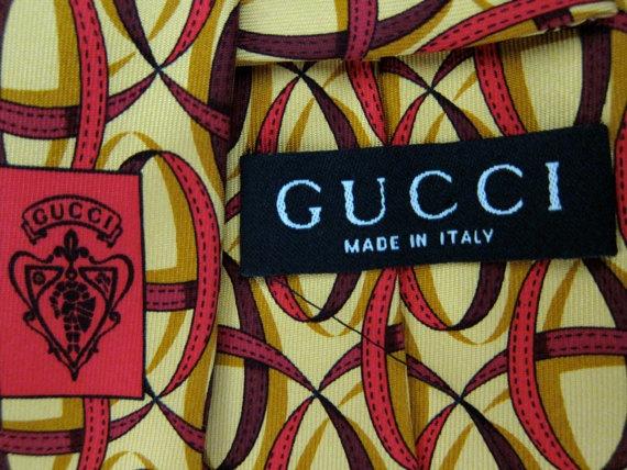 Vintage Gucci Italian Silk Tie - Ribbon Swirls - Tom Ford Era